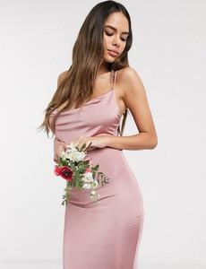 Różowa sukienka Missguided dopasowana