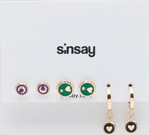 Sinsay - Zestaw kolczyków - Wielobarwny