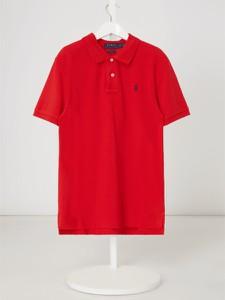 Czerwona bluzka dziecięca POLO RALPH LAUREN z krótkim rękawem z bawełny