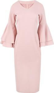 Różowa sukienka Makover z tkaniny