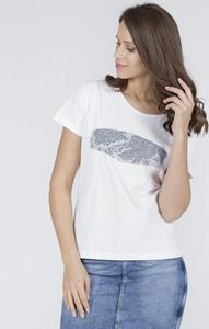 T-shirt Cross Jeans z okrągłym dekoltem z krótkim rękawem