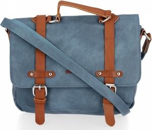 Niebieska torebka David Jones matowa