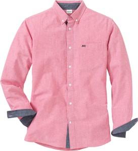 Różowa koszula bonprix John Baner JEANSWEAR z długim rękawem w stylu casual z kołnierzykiem button down