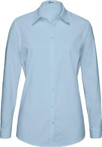 Niebieska bluzka bonprix z długim rękawem