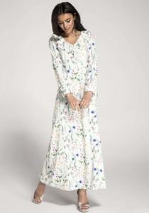 Sukienka Nommo z długim rękawem maxi