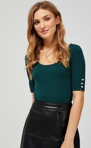 Zielona bluzka Moodo z krótkim rękawem