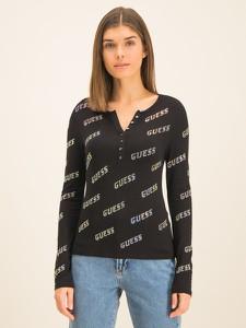 Bluzka Guess z dekoltem w kształcie litery v z długim rękawem w stylu casual