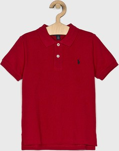 Czerwona koszulka dziecięca POLO RALPH LAUREN z bawełny