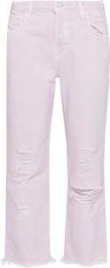 Różowe spodnie J Brand w stylu casual
