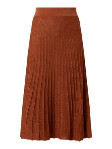 Brązowa spódnica Selected Femme z dzianiny