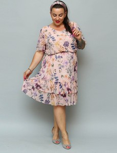 Sukienka KARKO w stylu casual z tiulu
