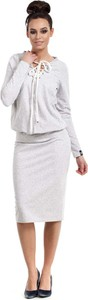 Sukienka MOE midi sportowa z długim rękawem