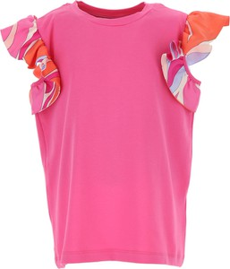 Różowa bluzka dziecięca Emilio Pucci z jedwabiu