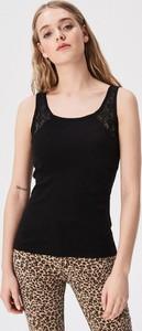 Czarny top Sinsay w stylu casual