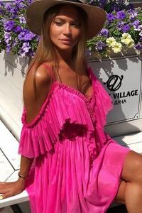 Różowa sukienka Ivet.pl w stylu casual mini
