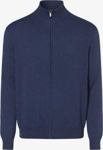 Niebieski sweter Andrew James w stylu casual z bawełny