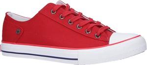 Czerwone trampki sznurowane Big Star DD174274