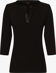 Czarny t-shirt comma, ze sznurowanym dekoltem
