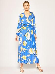 Sukienka Luisa Spagnoli z dekoltem w kształcie litery v z długim rękawem