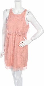 Różowa sukienka Bongo mini rozkloszowana