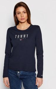 Bluzka Tommy Jeans z okrągłym dekoltem w stylu casual