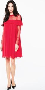 Czerwona sukienka L'AF z tiulu mini
