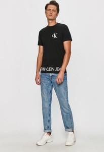 T-shirt Calvin Klein z krótkim rękawem z dzianiny