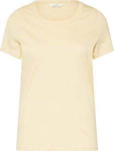 Bluzka Basic Apparel z bawełny z okrągłym dekoltem z krótkim rękawem