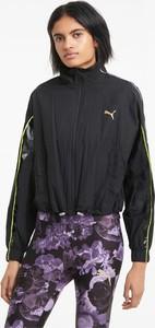 Czarna kurtka Puma z tkaniny w sportowym stylu krótka