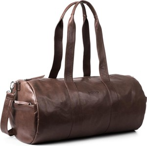 Brązowa torba podróżna Kemer ze skóry