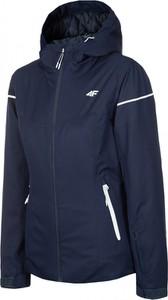 Granatowa kurtka 4F krótka w sportowym stylu