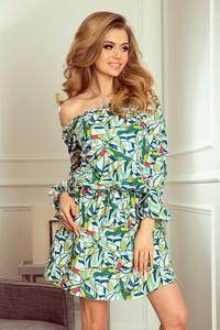 Zielona sukienka NUMOCO z długim rękawem