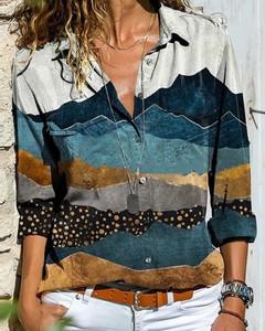 Bluzka Kendallme z bawełny w stylu casual z długim rękawem