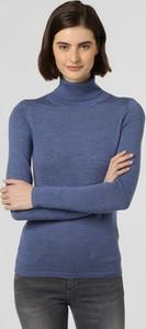 Niebieski sweter brookshire z wełny w stylu casual