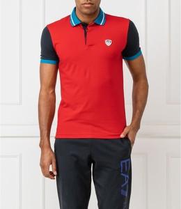 Koszulka polo Emporio Armani w stylu casual z krótkim rękawem