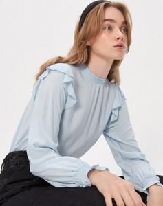 Niebieska bluzka House z długim rękawem