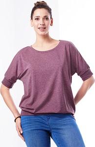 Fioletowa bluzka Tchibo z bawełny