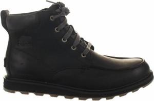 Czarne buty zimowe Sorel sznurowane