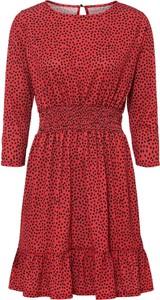 Czerwona sukienka bonprix w stylu casual