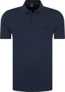 Niebieska koszulka polo Boss Athleisure z krótkim rękawem