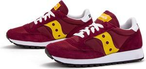 Czerwone buty sportowe Saucony z zamszu