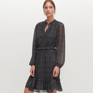 Sukienka Reserved trapezowa z długim rękawem