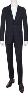 Czarny garnitur Tom Rusborg z wełny