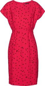 Różowa sukienka bonprix bpc selection z krótkim rękawem