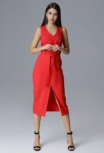 Czerwona sukienka Figl bez rękawów midi