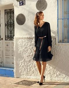 Sukienka Poza z długim rękawem