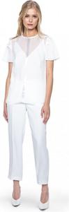 Bluzka ANETA KRĘGLICKA X L'AF z krótkim rękawem w stylu casual