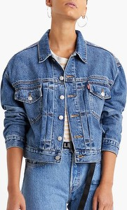Niebieska kurtka Levis w młodzieżowym stylu krótka