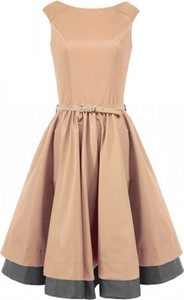 Sukienka Camill Fashion midi z okrągłym dekoltem bez rękawów