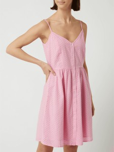 Różowa sukienka Only trapezowa mini z dekoltem w kształcie litery v